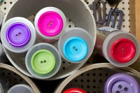 Large colored plastbuttons