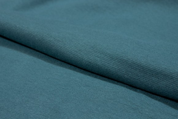 Petrol rib-fabric in good quality