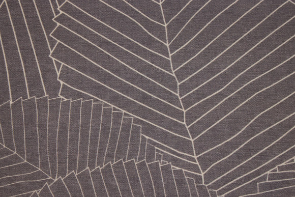 Rugged textile-table-cloth in grey with white line-pattern