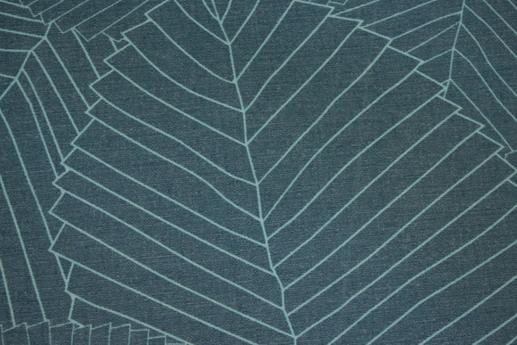 Rugged textile-table-cloth in jade-green with light green line-pattern
