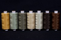 Synthetic thread standard quality, brown colors, 1000 m