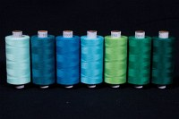 Synthetic thread standard quality, green-blue colors, 1000 m