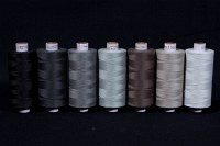 Synthetic thread standard quality, grey-black colors, 1000 m