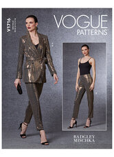 Blazer, belt and pants, Badgley Mischka. Vogue 1716.