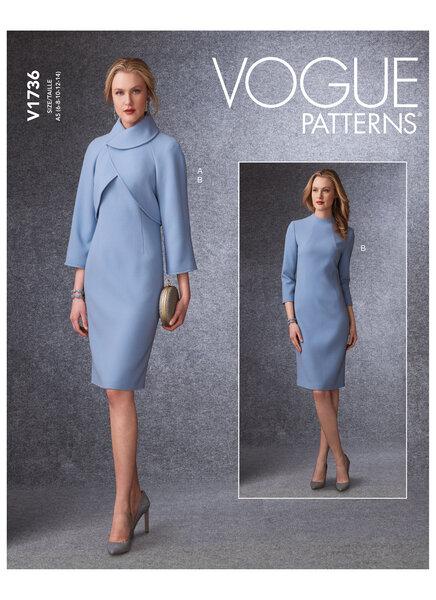 Lined Raglan-Sleeve Jacket and Funnel-Neck Dress