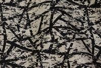 White cotton-satin with black pattern