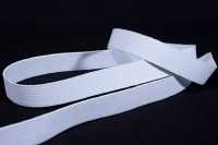 White, firm quality elastic 2 cm wide