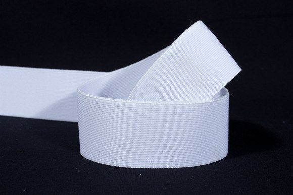 White, firm quality elastic 3 cm wide