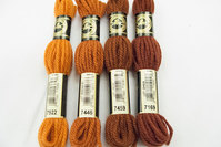 Wool-embroidery yarn DMC orange-brown