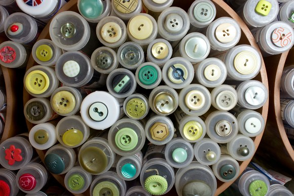 Yellow-green buttons 2