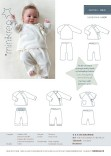 Cute wrap-around-blouse og very simpel, soft and comfortable pants.