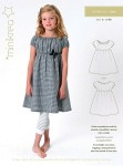 Simpel empire dress with beautiful elastick rinkle effekt in sleaves, neck and waist. Good loose fit.