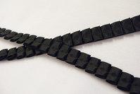 Plissé ribbon black 1cm