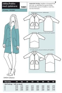 Onion 1051. Jacket or coat with collar.