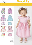 Simplicity 1701. Babies Dress and Separates.