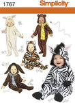 Babies Costumes bear, lam, zebra, cat, dog