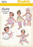 Simplicity 1813. Babies´ Dress and Separates.