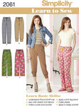 Learn to Sew Misses Knit and Woven Trousers