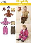 Babies Sportswear, jacket, vest, hat