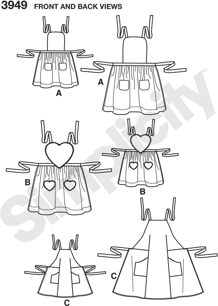 Child and Misses Aprons