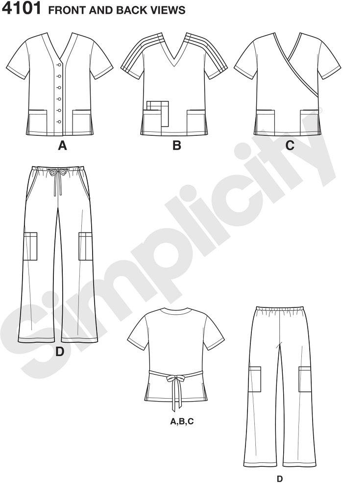 Plus Size Unisex Uniform: Scrub Tops and Trousers