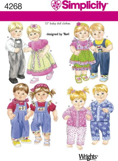 Doll Clothes, overalls, dresses