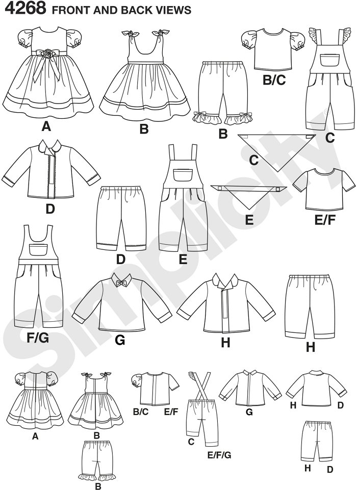 15 inch Baby Doll Clothes