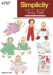 Simplicity 4707. Baby doll clothes.