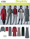 Simplicity 4789. Plus Size Trousers, Vest, Jacket and Jumper.