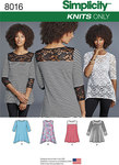 Misses´ Knit Tops with Lace Variations
