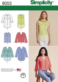 Misses´ Button Front Shirt in Various Styles