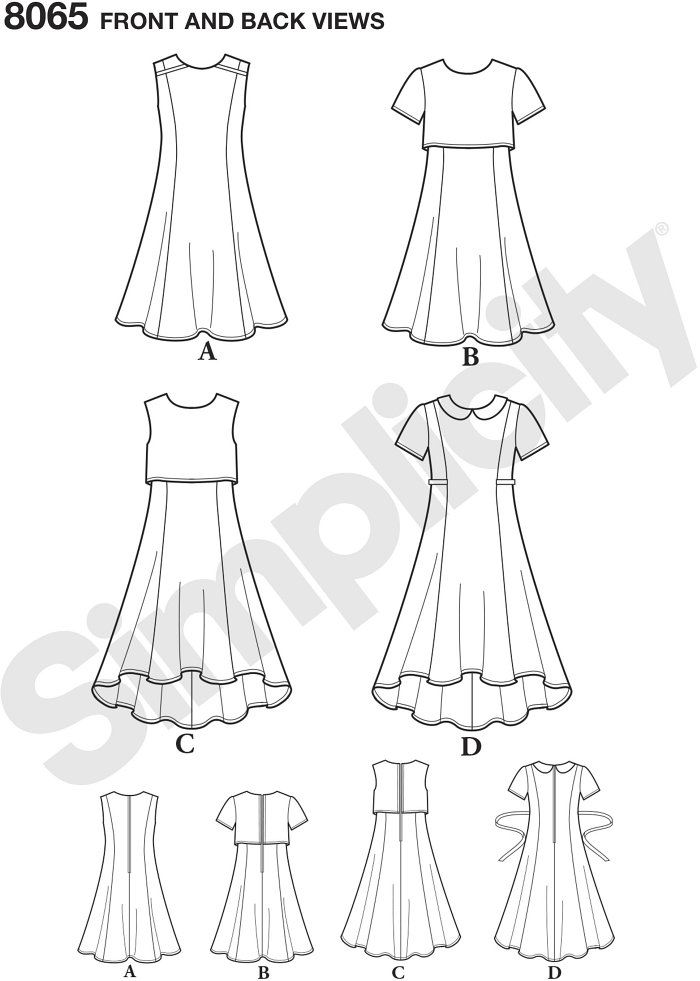 This chic and versatile dress for girls´ and girls´ plus has straight or high low hemline, sleeveless or short sleeves with collar detail or add a popover for a completely different look.