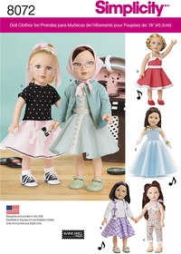 Vintage Inspired 18 inches Doll Clothes