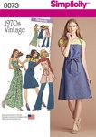 Vintage 1970s Apron Dress