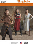 Simplicity 8074. Misses Warrior Costumes.