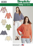 Misses Easy-to-Sew Knit Tops