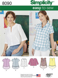 Misses´ Easy-to-Sew Button Shirt and Pullover Top