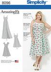 Simplicity 8096. Amazing Fit Plus Size Dresses.