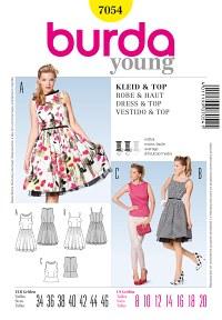 Dress and top. Burda 7054.