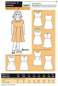 Retro-dresses for knits. Onion 20051.