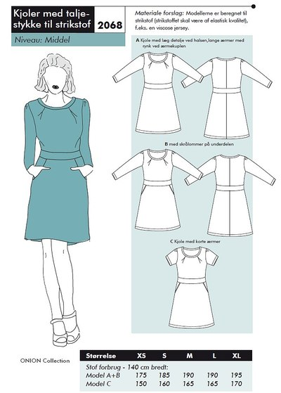 Dresses with waist piece for knits