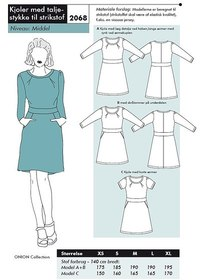 Dresses with waist piece for knits. Onion 2068.