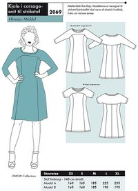 Dress in corsage-cut for knits. Onion 2069.