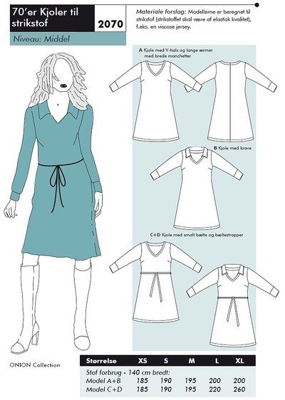 70es dress for knits