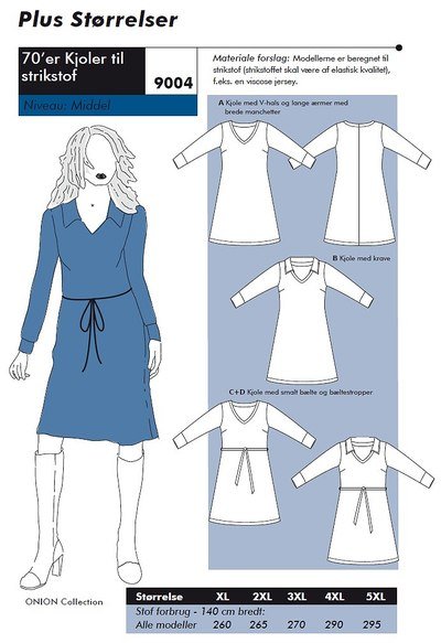 70es dresses in big sizes for knits