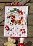 Permin 34-8266. Christmas calendar Santa Claus workshop.