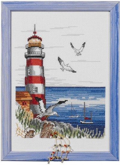Wall embroidery Lighthouse