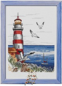 Wall embroidery Lighthouse. Permin 92-2307.