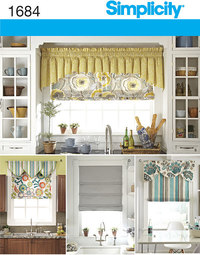 Roman Shades and Valances. Simplicity 1684.