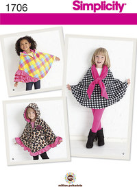 Childs Fleece Capes. Simplicity 1706.